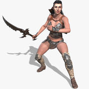 Gal Gadot Warrior Animated 3d model