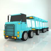 Мультфильм перевозчик грузовик 3d model