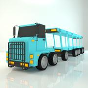 Cartoon Carrier Truck 3d model