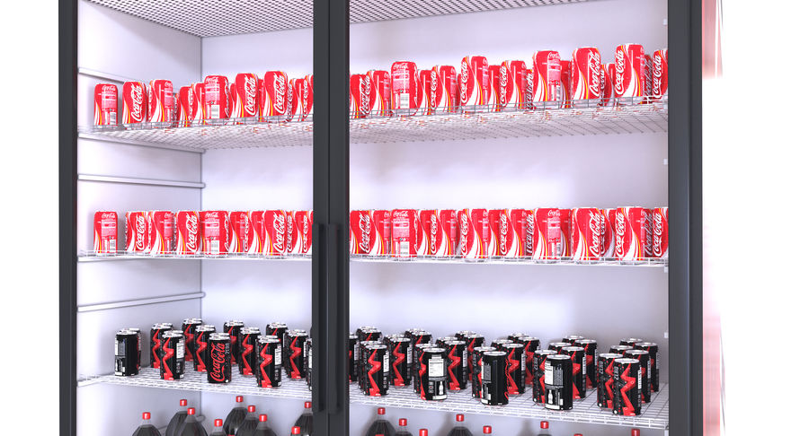 Pepsi And Coca Fridges royalty-free 3d model - Preview no. 7
