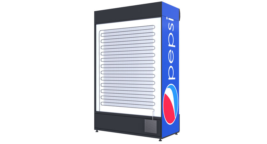 Pepsi And Coca Fridges royalty-free 3d model - Preview no. 27