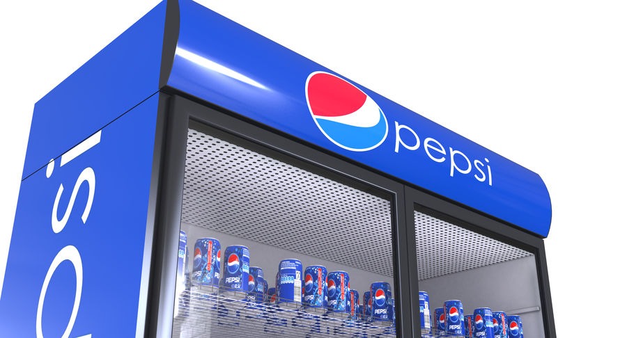 Pepsi And Coca Fridges royalty-free 3d model - Preview no. 22