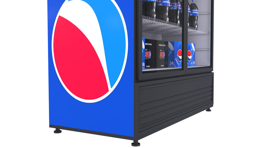 Pepsi And Coca Fridges royalty-free 3d model - Preview no. 25