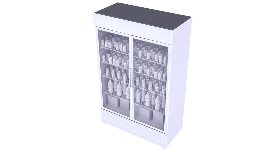 Pepsi And Coca Fridges royalty-free 3d model - Preview no. 14