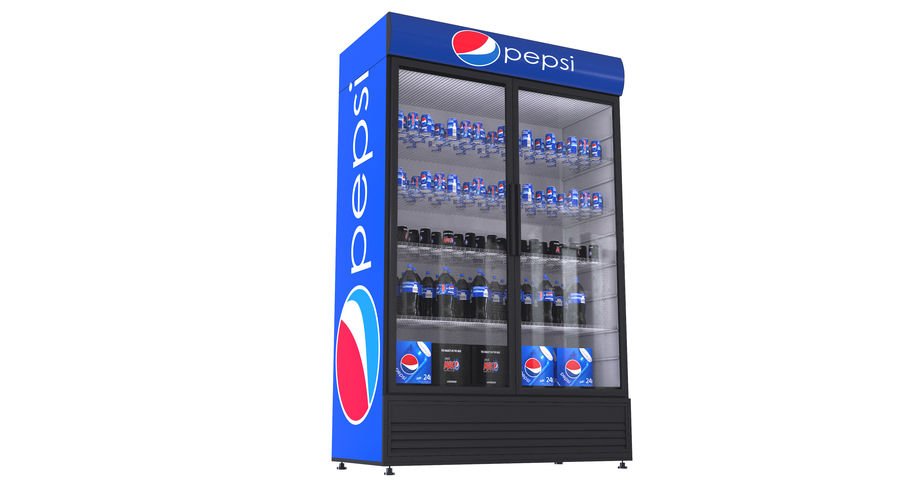 Pepsi And Coca Fridges royalty-free 3d model - Preview no. 28