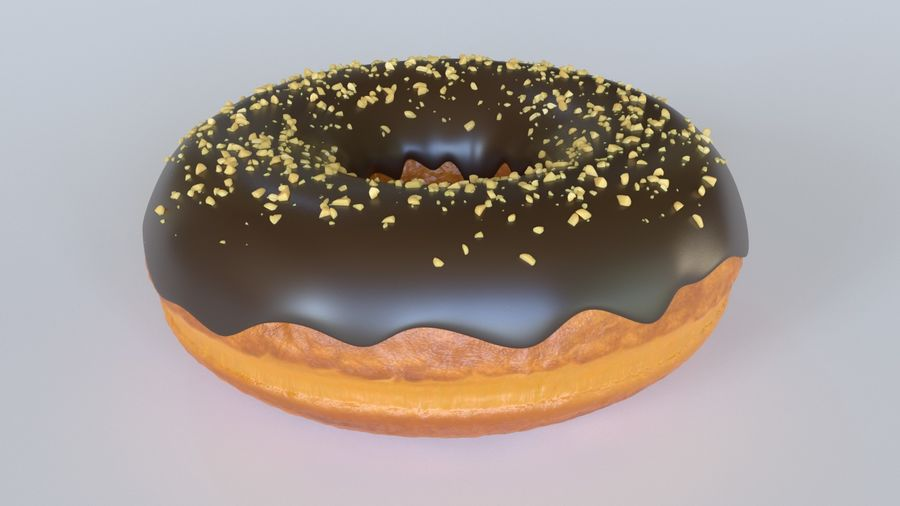 Rosquinha royalty-free 3d model - Preview no. 3