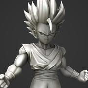 Como desenhar Goku Instinto Supremo - Dragon Ball Super 3d model