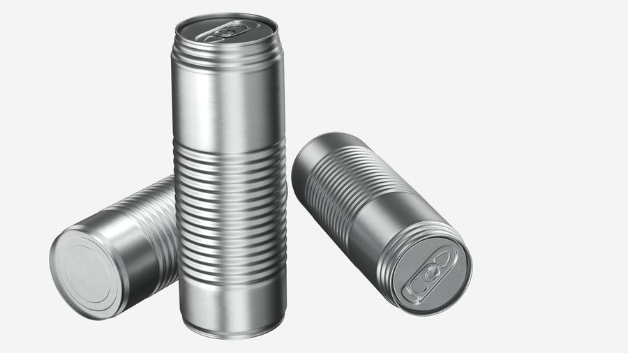 Aluminum Soda Can 01 royalty-free 3d model - Preview no. 3