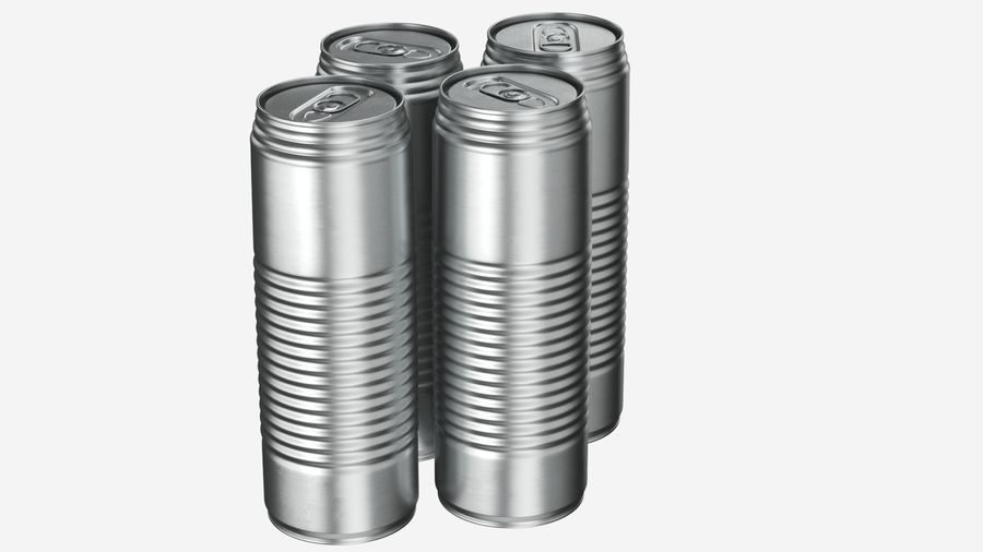 Aluminum Soda Can 01 royalty-free 3d model - Preview no. 4