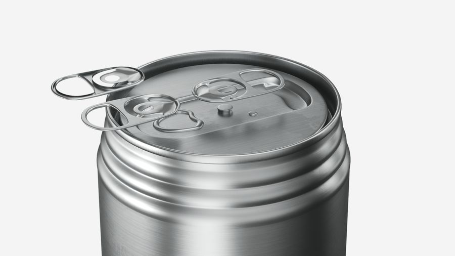 Aluminum Soda Can 01 royalty-free 3d model - Preview no. 6
