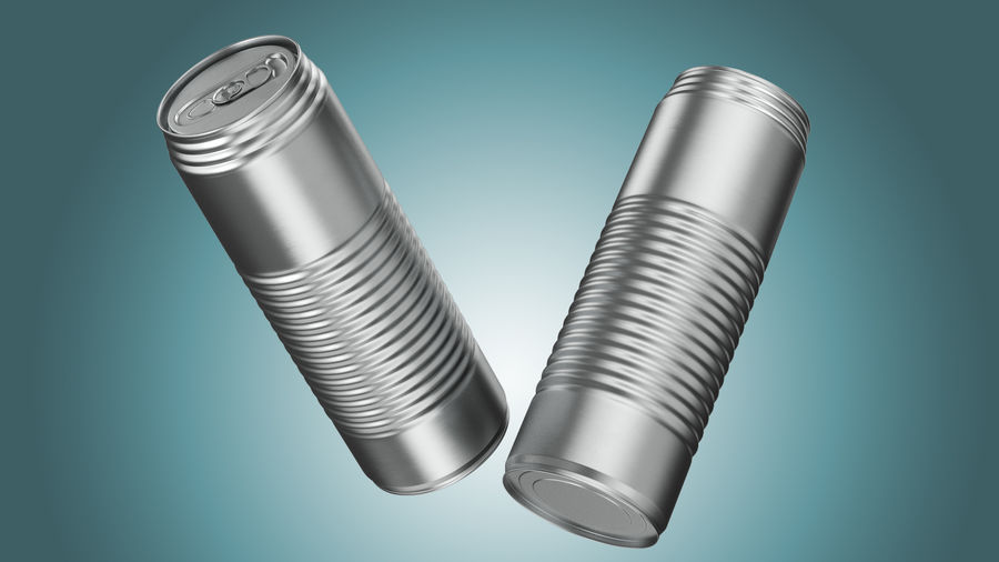 Aluminum Soda Can 01 royalty-free 3d model - Preview no. 2