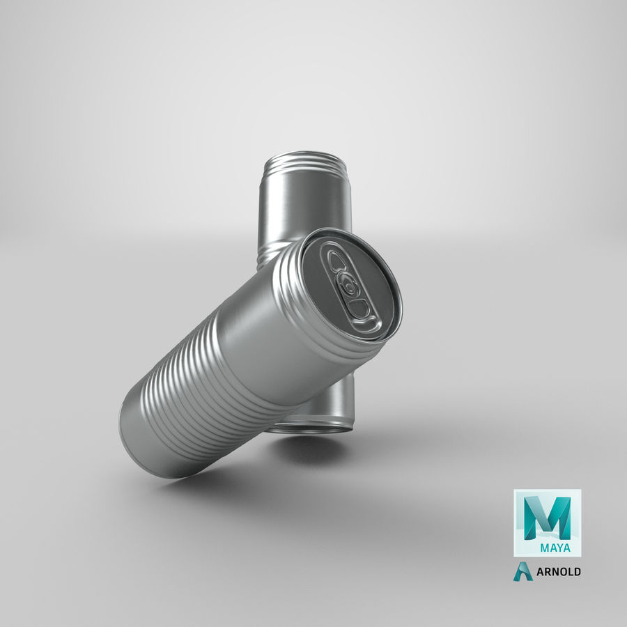 Aluminum Soda Can 01 royalty-free 3d model - Preview no. 23