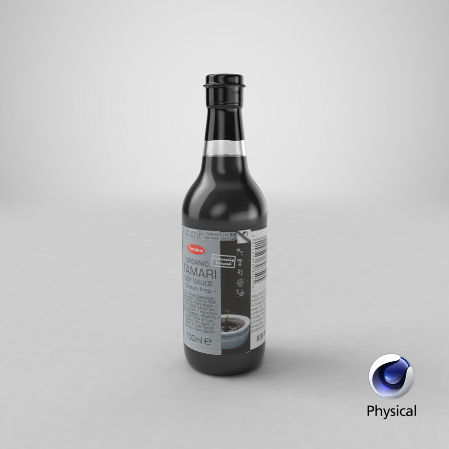 간장 병 01 royalty-free 3d model - Preview no. 21