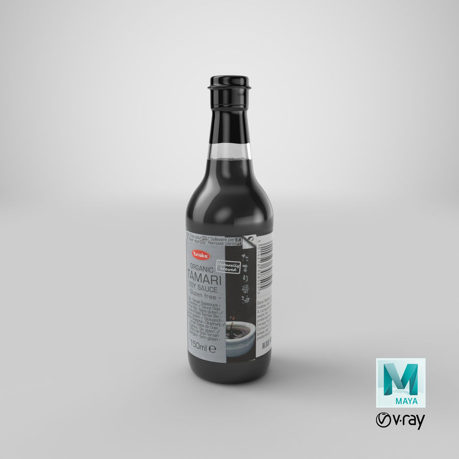 간장 병 01 royalty-free 3d model - Preview no. 28