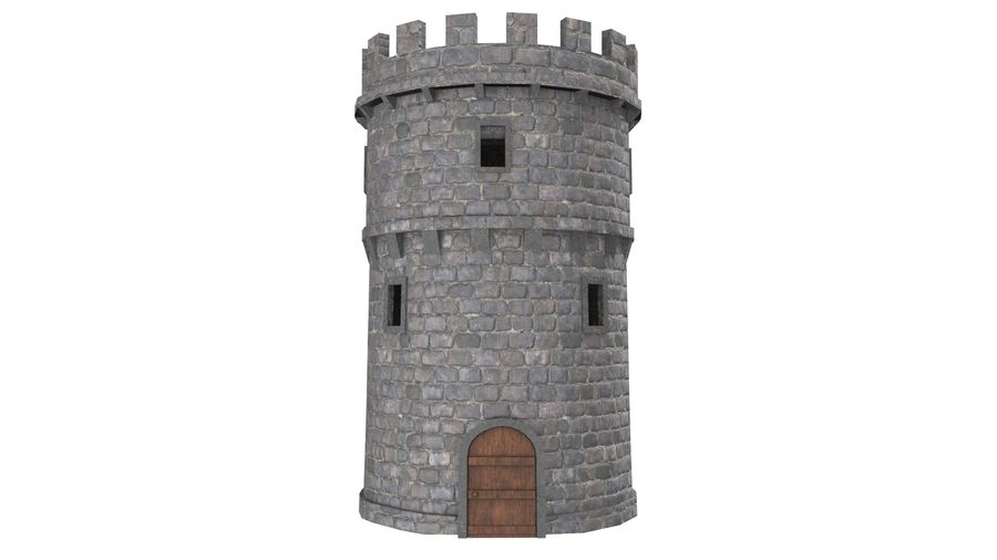 Schlossturm 02 royalty-free 3d model - Preview no. 6