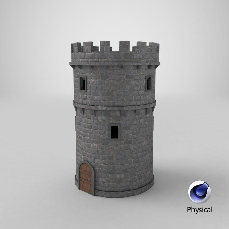 Schlossturm 02 royalty-free 3d model - Preview no. 11