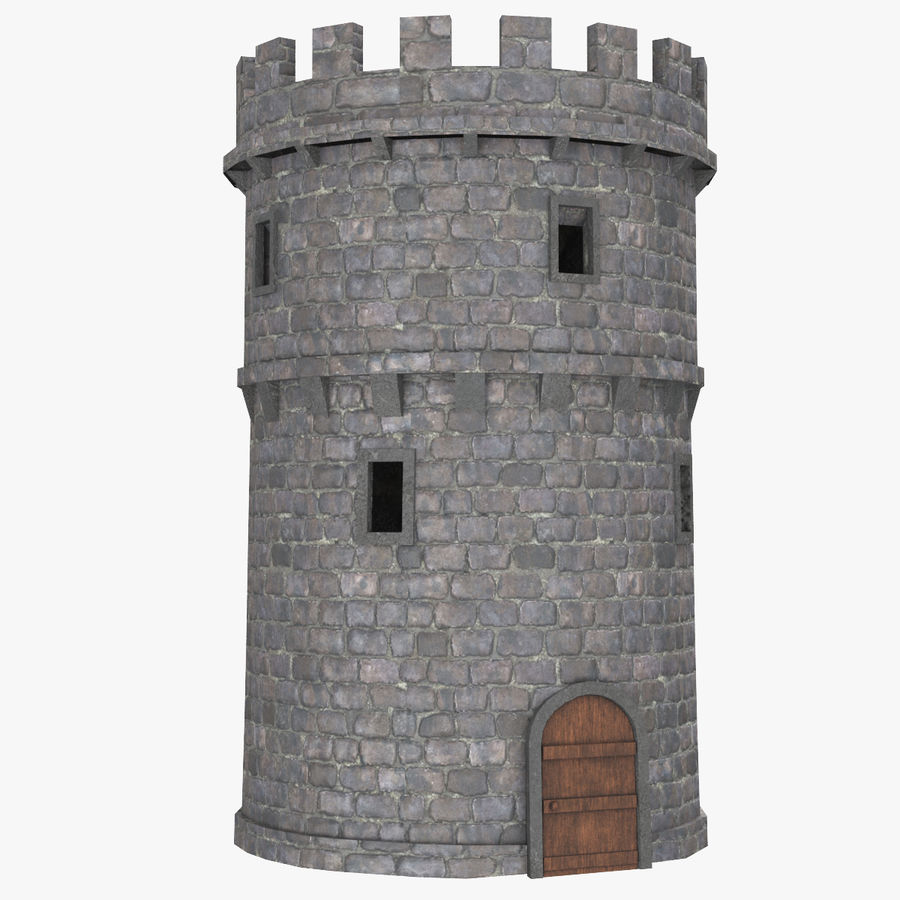 Schlossturm 02 royalty-free 3d model - Preview no. 1