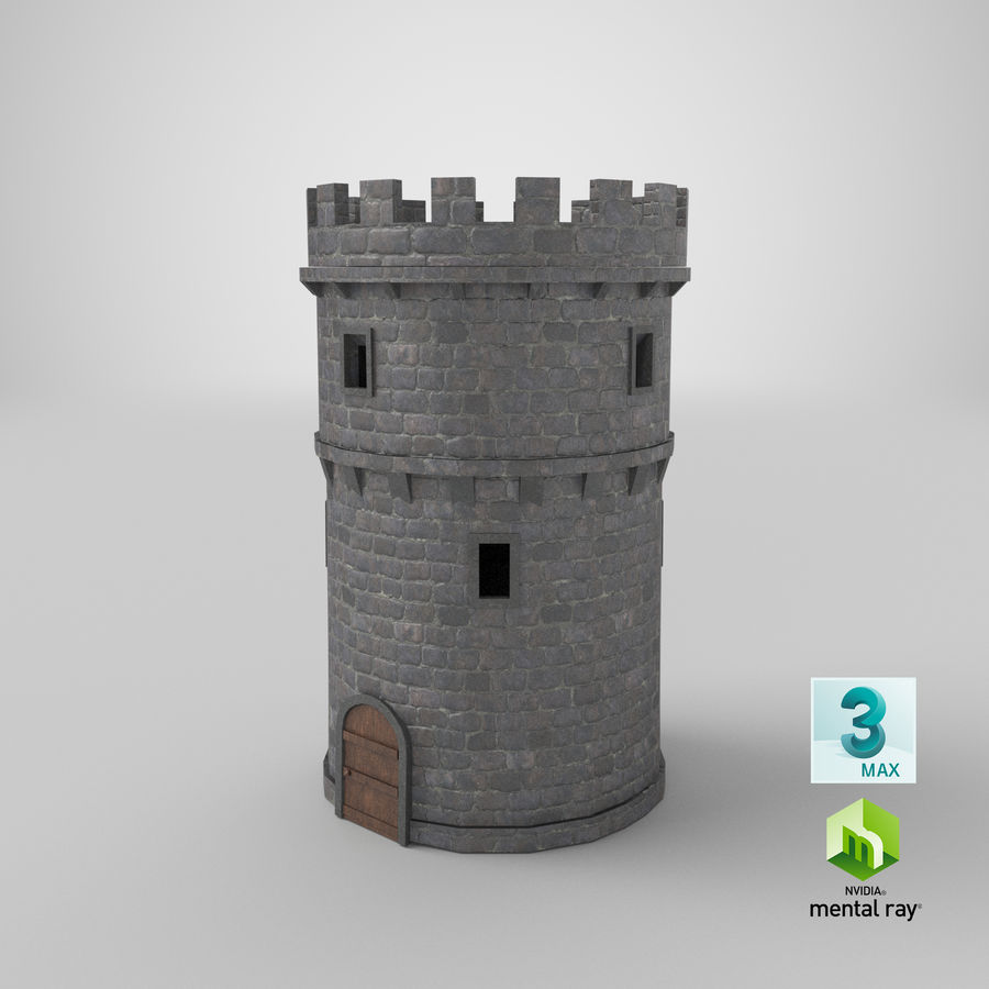 Schlossturm 02 royalty-free 3d model - Preview no. 16