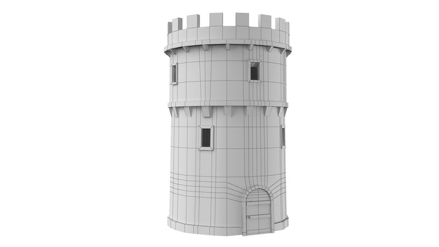 Schlossturm 02 royalty-free 3d model - Preview no. 8