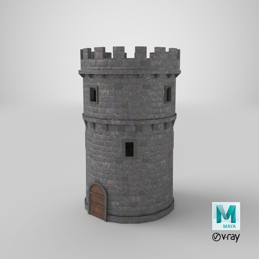 Schlossturm 02 royalty-free 3d model - Preview no. 20
