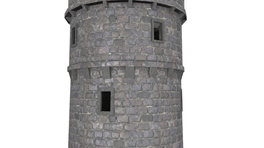 Schlossturm 02 royalty-free 3d model - Preview no. 7