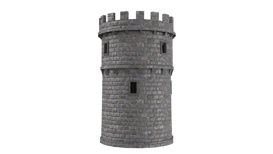 Schlossturm 02 royalty-free 3d model - Preview no. 5