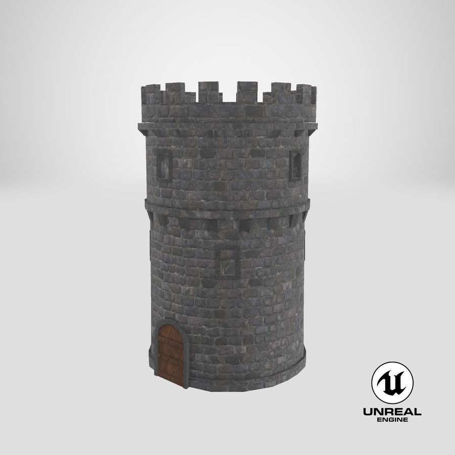 Schlossturm 02 royalty-free 3d model - Preview no. 14