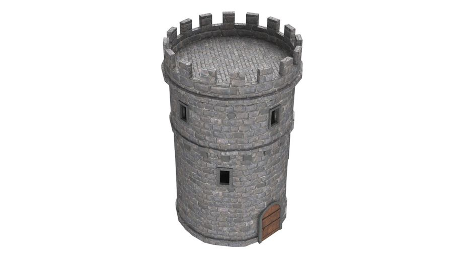 Schlossturm 02 royalty-free 3d model - Preview no. 4