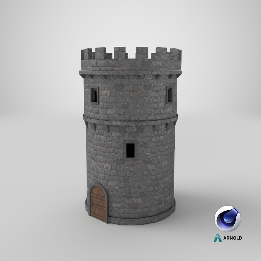 Schlossturm 02 royalty-free 3d model - Preview no. 12