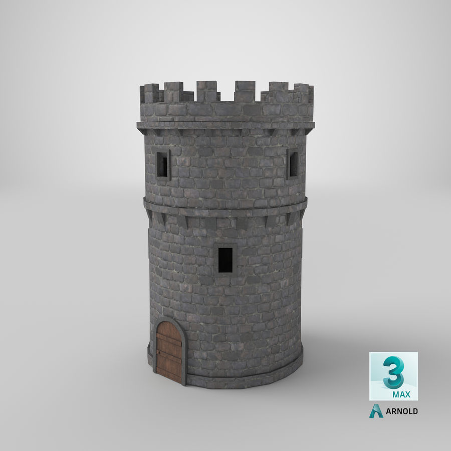 Schlossturm 02 royalty-free 3d model - Preview no. 15