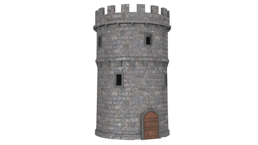 Schlossturm 02 royalty-free 3d model - Preview no. 2