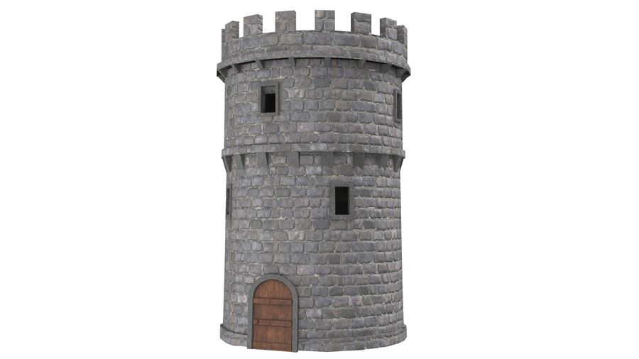 Schlossturm 02 royalty-free 3d model - Preview no. 3