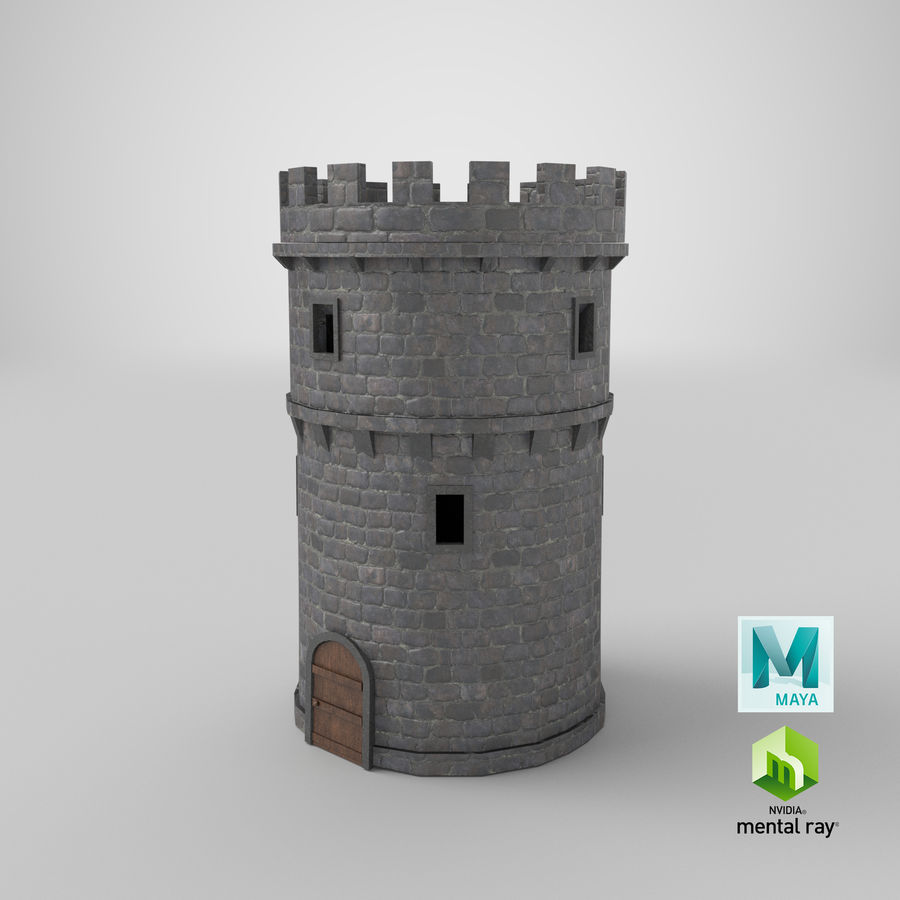 Schlossturm 02 royalty-free 3d model - Preview no. 19