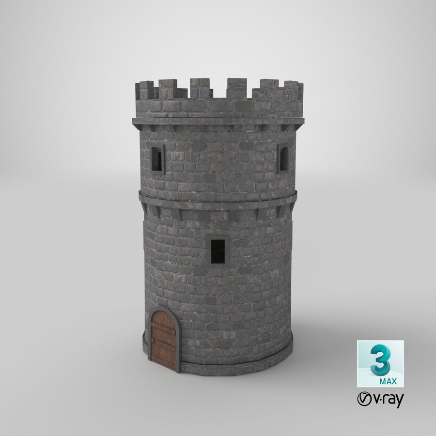 Schlossturm 02 royalty-free 3d model - Preview no. 17