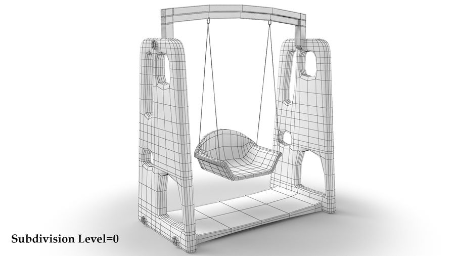 Swing Model 3D royalty-free 3d model - Preview no. 9