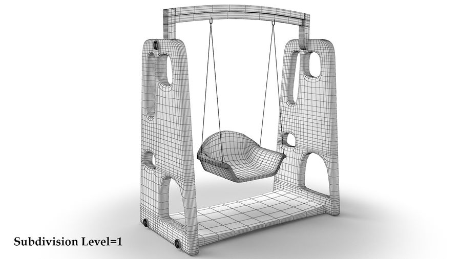 Swing Model 3D royalty-free 3d model - Preview no. 10