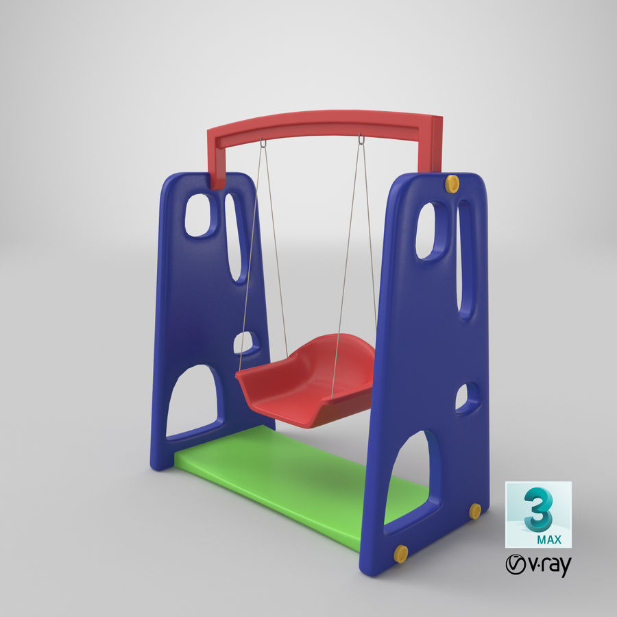 Swing Model 3D royalty-free 3d model - Preview no. 17