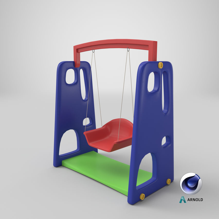 Swing Model 3D royalty-free 3d model - Preview no. 14