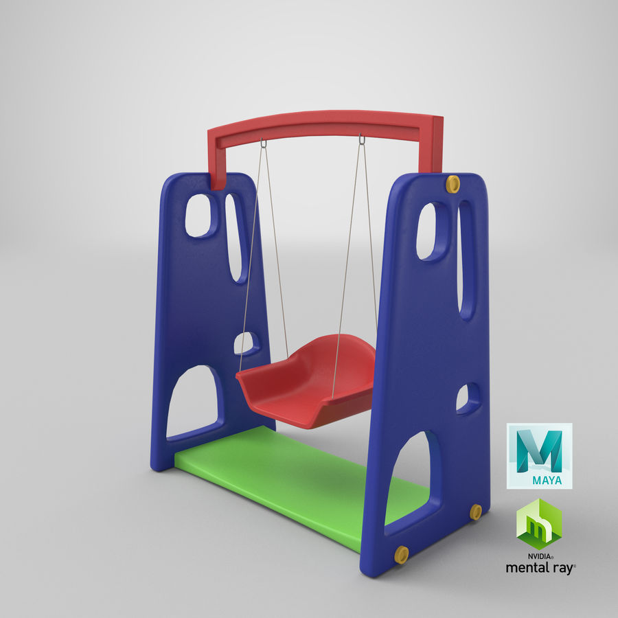 Swing Model 3D royalty-free 3d model - Preview no. 19