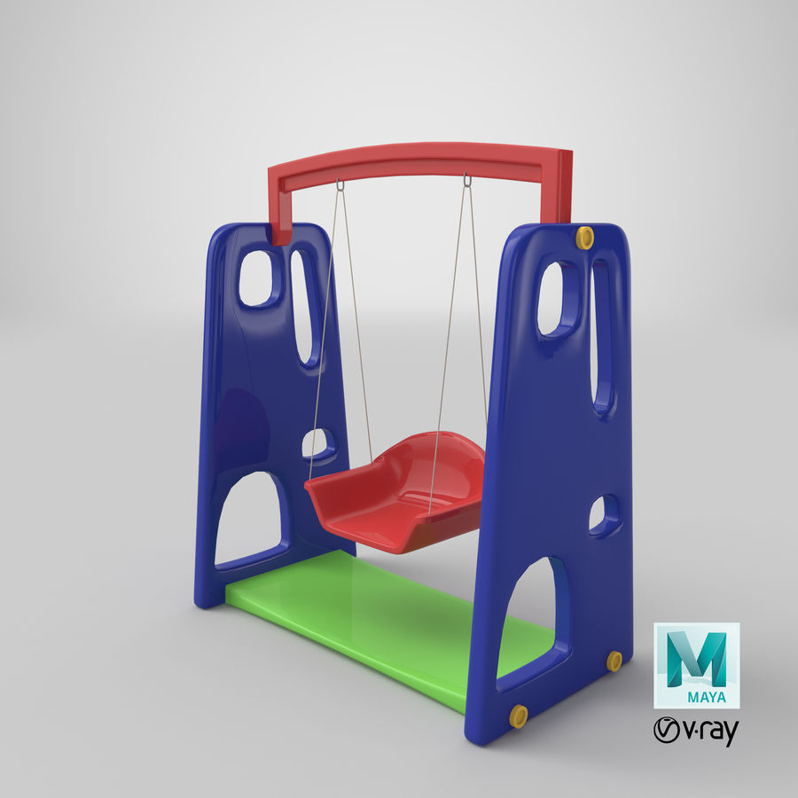 Swing Model 3D royalty-free 3d model - Preview no. 20