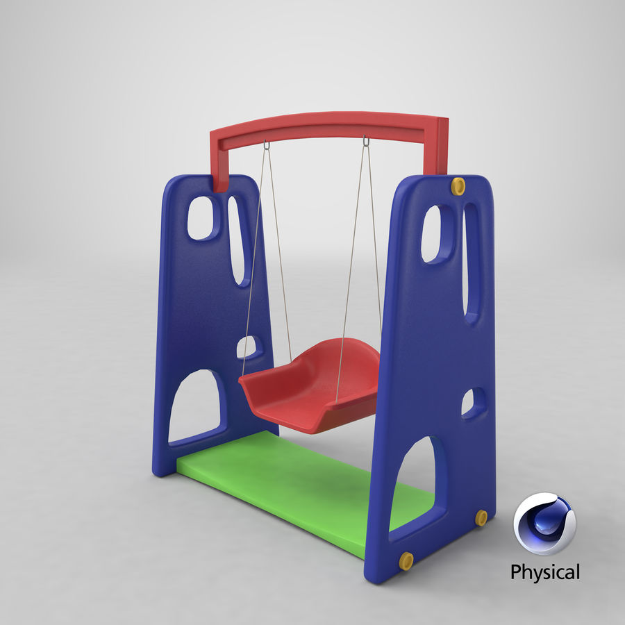 Swing Model 3D royalty-free 3d model - Preview no. 13