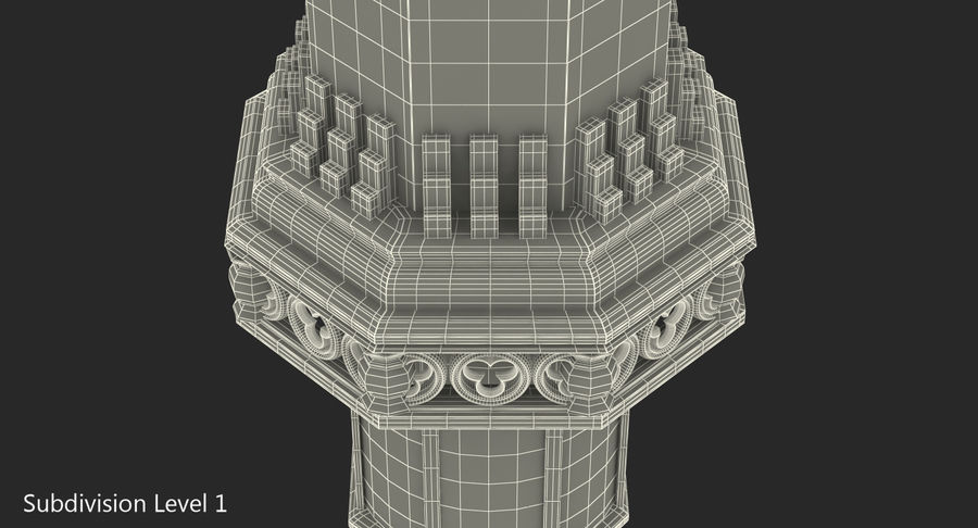 Schlossturm royalty-free 3d model - Preview no. 8