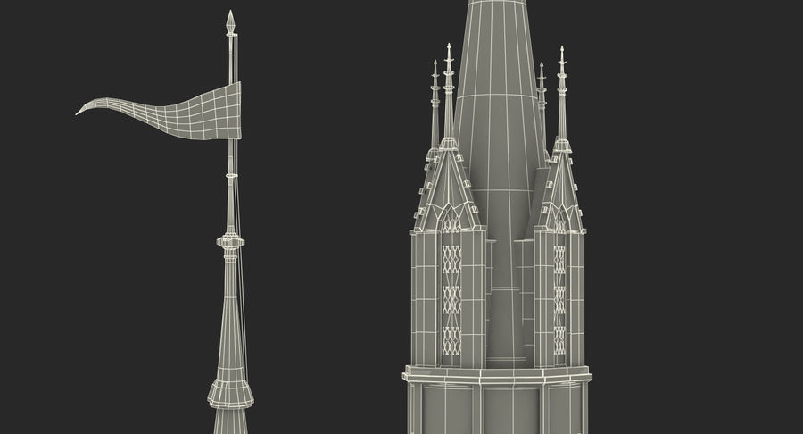 Schlossturm royalty-free 3d model - Preview no. 15