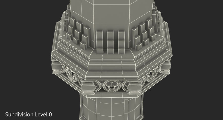 Schlossturm royalty-free 3d model - Preview no. 7
