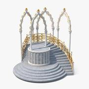 Tribuna del castillo modelo 3d