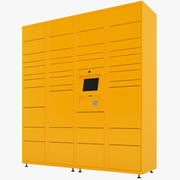 Delivery Lockers 04 3d model