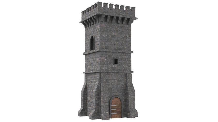 Torre da torre do castelo royalty-free 3d model - Preview no. 2