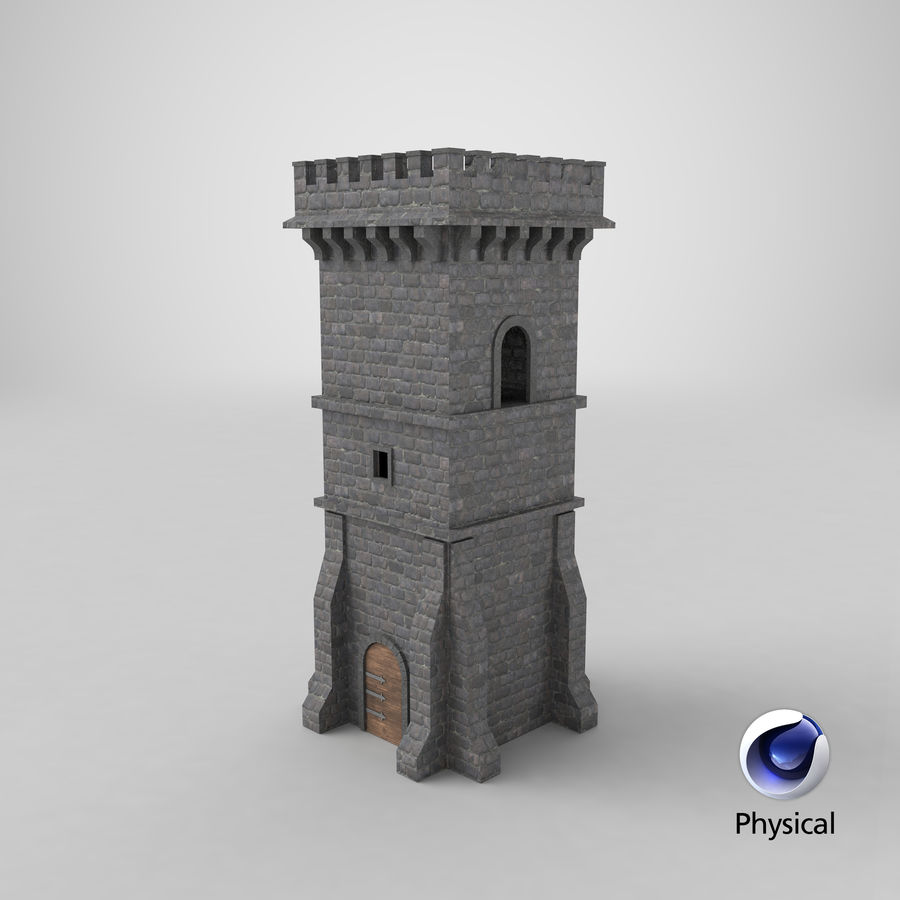 Torre da torre do castelo royalty-free 3d model - Preview no. 11