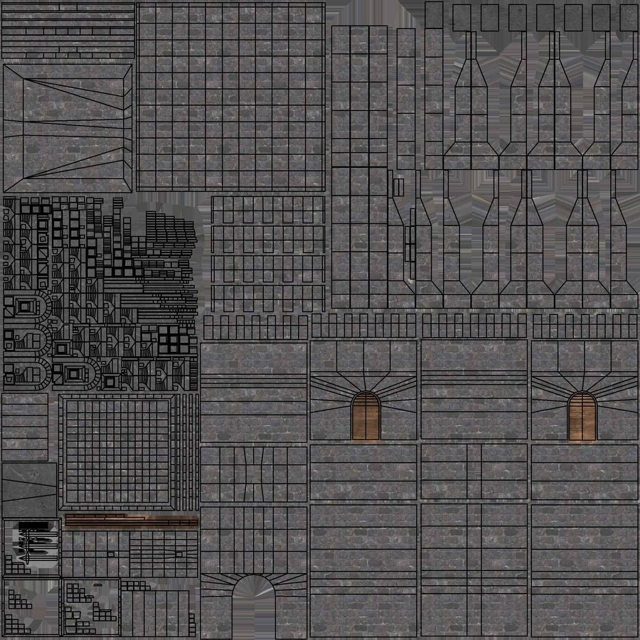 Torre da torre do castelo royalty-free 3d model - Preview no. 10