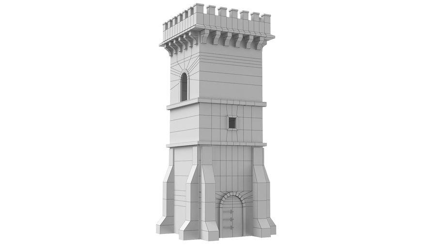 Torre da torre do castelo royalty-free 3d model - Preview no. 8